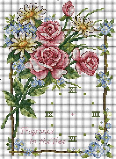 схемы для вышивки крестиком цветы