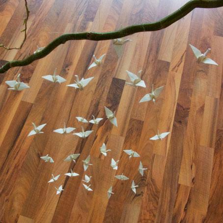 Origami Kranich Papierfaltkunst
