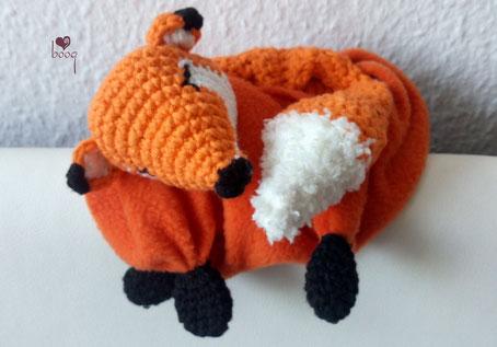 Schlafender Fuchs amigurumi -fox