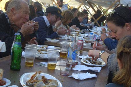 grosses Gerret-Essen in Santa Eulalia