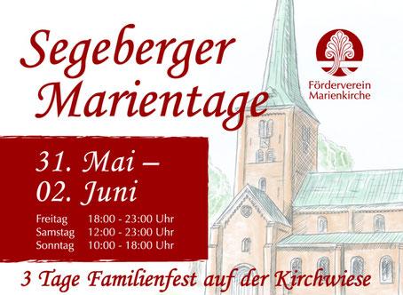 Plakat Marientage Bad Segeberg