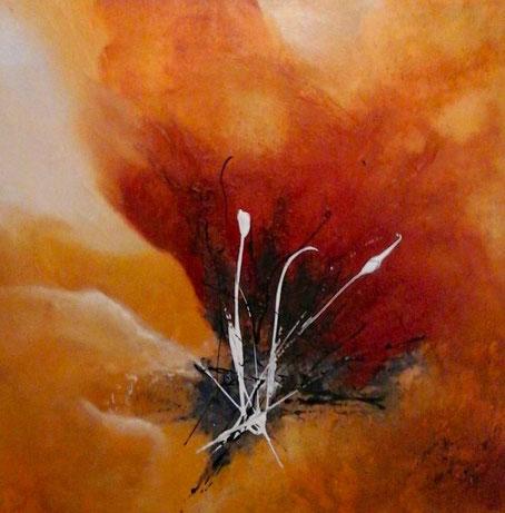 """""""Blüte"""", Acryl auf Leinwand, 60x60 cm"""