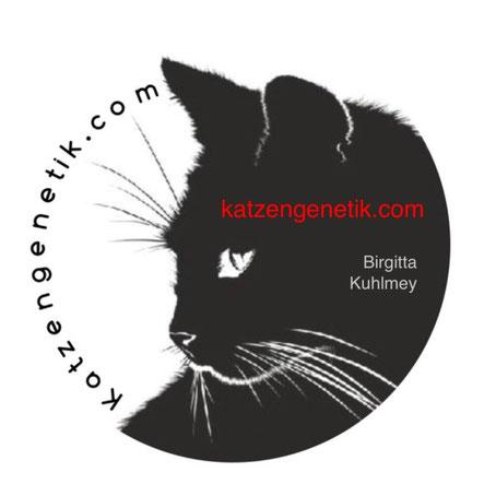 Logo - katzengenetik.com, Birgitta Kuhlmey, seit 2010