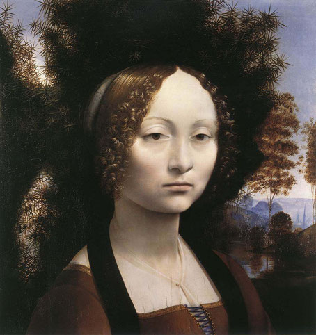 Портрет Джиневры де Бенчи - самые известные работы Леонардо да Винчи
