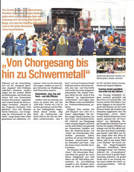 NÖN Ankündigung 21.Schwechater Stadtfest