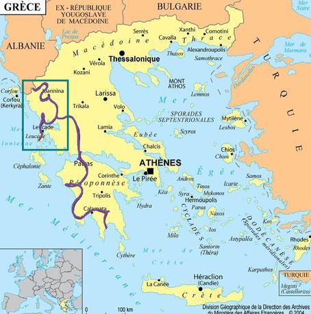 carte Grèce bigousteppes balkans tour