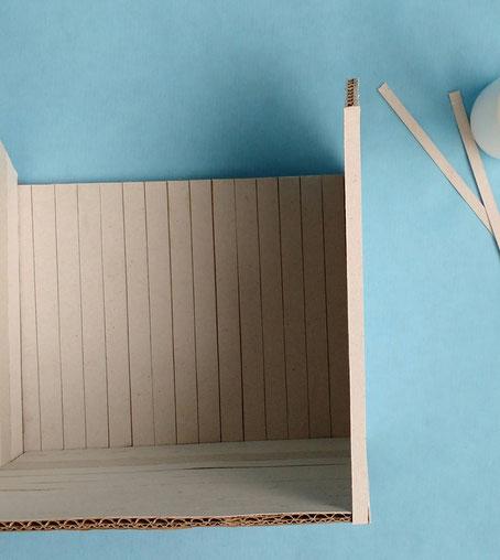 Anleitung Gartenhäuschen aus Pappe