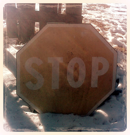 Stop nella neve