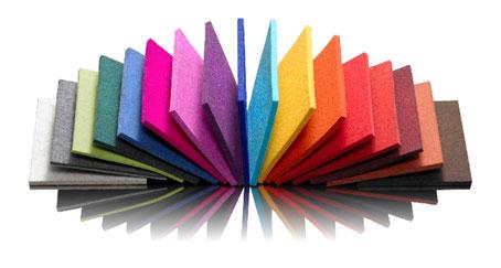 Farbfächer Designfilz