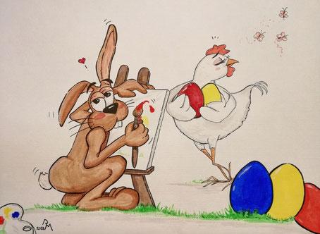 ...verliebt in ihre Eier...