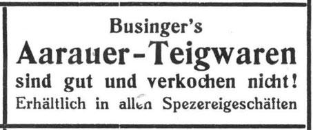 Inserat von 1937 im Aarauer Turnblatt