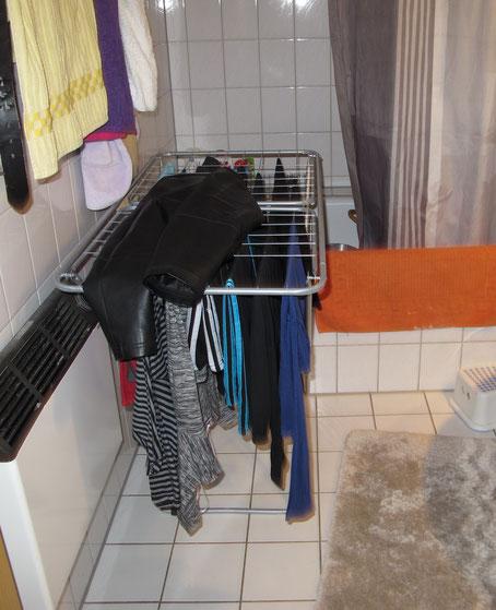 Wäschetrocknung erhöht die Luftfeuchte in der Wohnung.