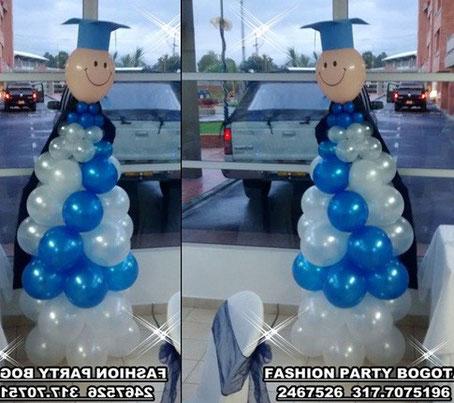 Decoracion con globos para grado fashion party for Decoracion de grado