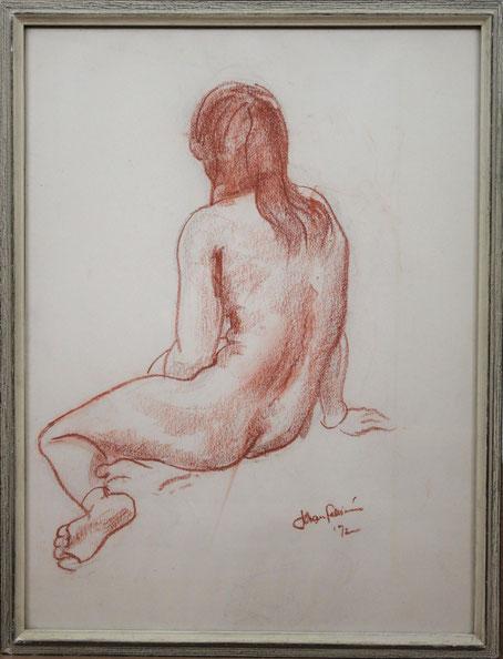 te_koop_aangeboden_een_rood_krijt_tekening_van_de_nederlandse_beeldend_kunstenaar_johan_fabricius_1899-1981