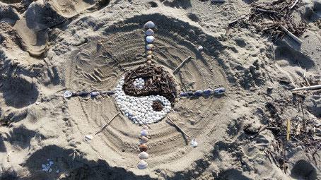Yin/Yang en bord de mer