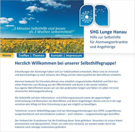 Lunge Hanau Selbsthilfegruppe Homepage Rödermark Onlinedesign
