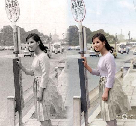 修復・色再現 作業前→作業後比較 吉永小百合