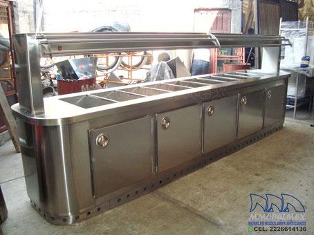Baño maria de acero inoxidable, muebles de acero inoxidable
