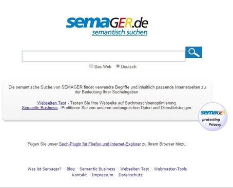 Keywordsuche Suchbegriffe finden Semager