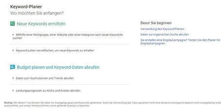 Google Keywordplaner