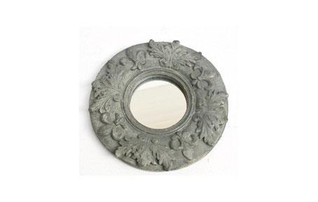 Espejo redondo de color gris