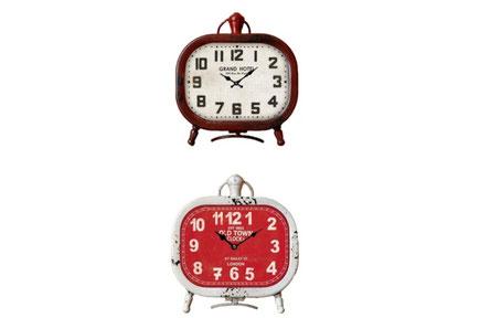 Reloj de mesa ovalado en varios colores