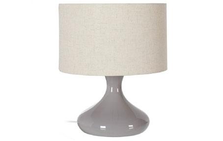 Lámpara sobremesa de cerámica gris