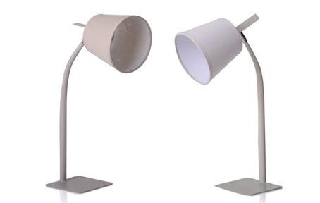 Lámpara flexo de metal crema o moka