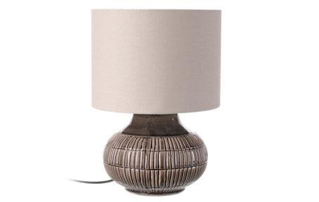 Lámpara de sobremesa de cerámica beige