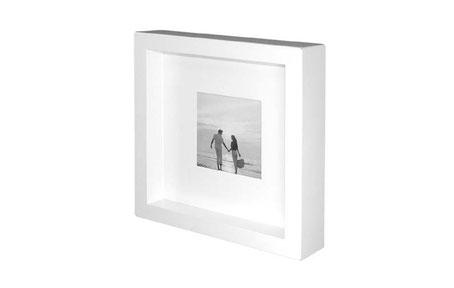 Marco de foto cuadrado blanco