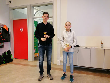Lars (rechts) 2. Platz in AK Jugend hinter Basti Tinkhauser (LC Kapelln)