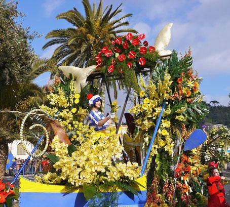 Städtereise Frankreich Karneval in Nizza, Blumenkorso
