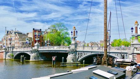 Städtereise Amsterdam, die blauwe Brugg Sehenswürdigkeiten in Amsterdam Holland
