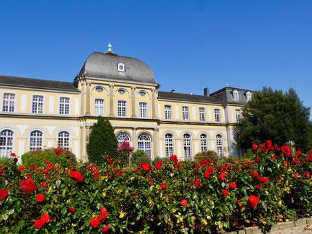 Bonn Garten der Universität Sehenswürdigkeit Deutschland Bonn, Poppelsdorfer Schloss Botanischer Garten Universität