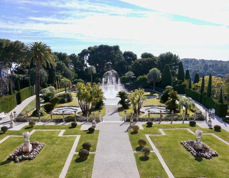 Städtereise Frankreich:Der Park der Villa Rothschild auf der Landzunge am Cap Ferrat