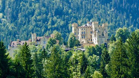 König Ludwig Schloss Hohenschwangau Füssen im Allgäu