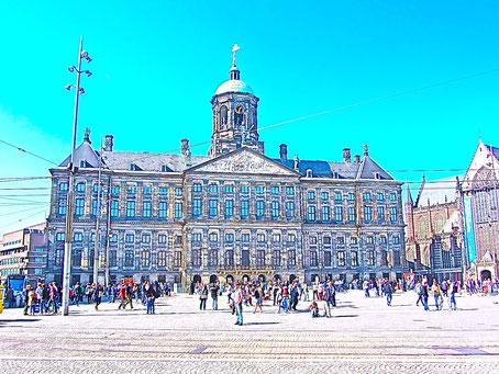 Rathaus un d Regierungssitz des Königs in Amstrdam Sehenswürdigkeiten in Amsterdam Holland