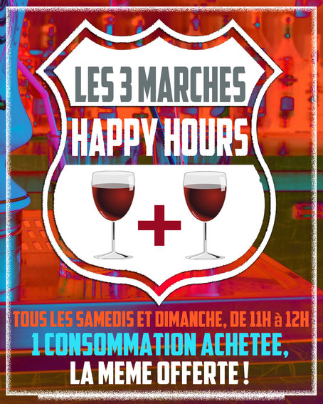 HAPPY HOURS LES 3 MARCHES BEZONS