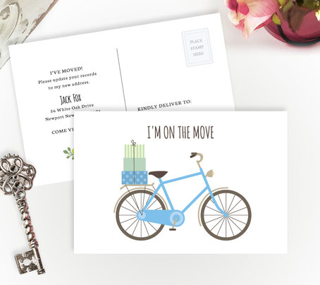 Moving Announcement Cards