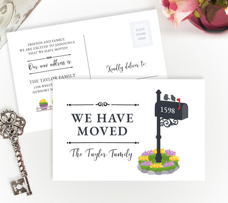 Personalized New Home Cards