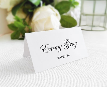Table Seating Cards folded