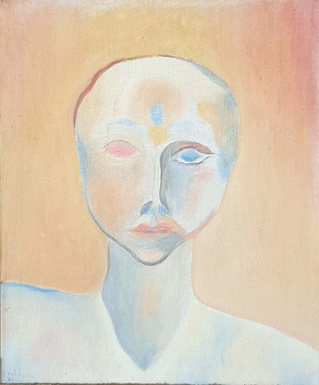 """Portrait of a Self Realized Soul"" signed ""F Brabazon  41"" - Exhibited 1941 at the  Contempory Art Society, Melbourne, Victoria, Australia ; Image courtesy of John Parry."