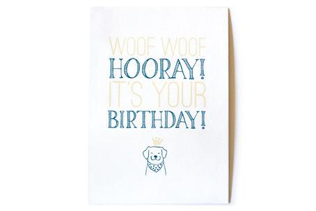 hundestrand Geburtstagskarte Hund 300gr Cotton Feinstpapier