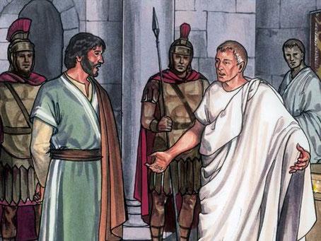 Le ministère de Jésus a justement consisté à rendre témoignage à la vérité. « Pilate lui dit: «Tu es donc roi?» Jésus répondit: «Tu le dis, je suis roi. Si je suis né et si je suis venu dans le monde, c'est pour rendre témoignage à la vérité.