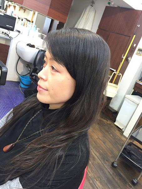 横浜・美容室☆デジタルパーマとまだらカラーで綺麗女性に