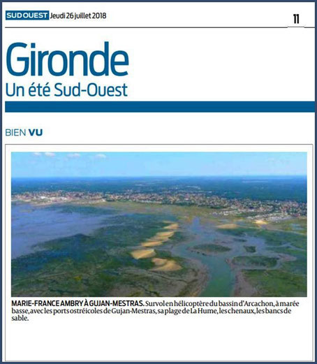 Photo Marinelle sur Journal Sud-Ouest, page Gironde, édition du 26/07/2018