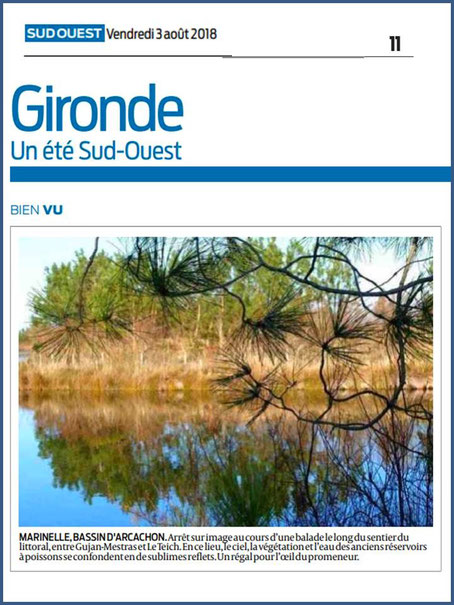 Photo Marinelle sur Journal Sud-Ouest, page Gironde, édition du 03/08/2018