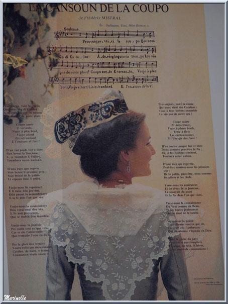 """Affiche de la """"Cansoun de la Coupo"""" - Hymne provençal de Frédéric Mistral"""
