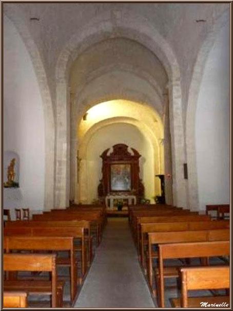 La nef de l'église Saint Sébastien - Goult, Lubéron - Vaucluse (84)