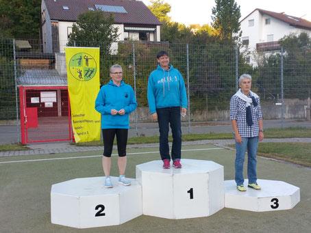 Sabine Grißmer istnach langer Pause wieder da! Im Hammer- und im Gewichtwerfen wurde sie 2.